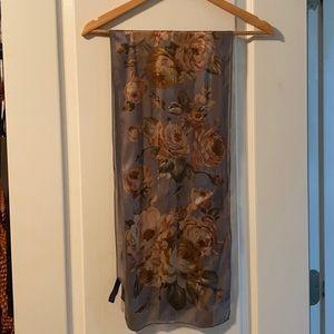 Ralph Lauren Silk / Soie Scarf - gorgeous browns